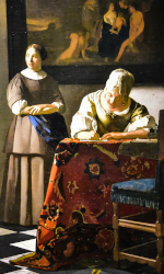 A Lady Writing a Letter with her Maid (1670-1671) Johannes Vermeer